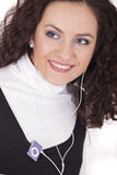 Woman hearing music Royalty Free Stock Image
