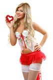 The woman with heart Stock Images