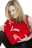 Woman with heart Royalty Free Stock Images