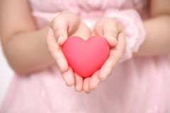 Woman with heart royalty free stock photography