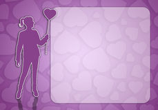 Woman with heart Royalty Free Stock Photos