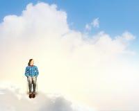 Woman in heaven Stock Image