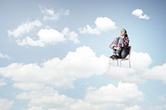 Woman in heaven Stock Images