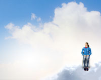 Woman in heaven Royalty Free Stock Photos