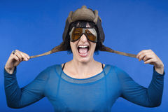 Woman with helmet Royalty Free Stock Photo