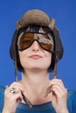 Woman with helmet Royalty Free Stock Image