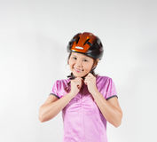 Woman in helmet Royalty Free Stock Photo