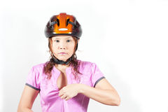 Woman in helmet Royalty Free Stock Photos