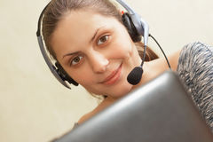 Woman helpdesk Stock Photo