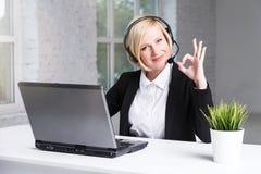 Woman on Helpline stock photography