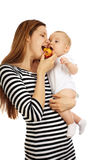 Woman and her baby Royalty Free Stock Photography