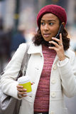 Woman On Her Cell Phone Royalty Free Stock Image