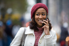 Woman On Her Cell Phone Royalty Free Stock Images