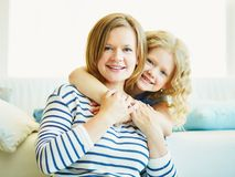 Woman and her child Royalty Free Stock Image