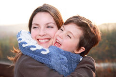 Woman with her child Royalty Free Stock Photos