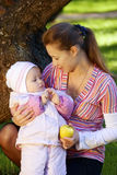 Woman with her daughter Royalty Free Stock Images