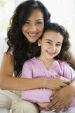 A woman with her daughter Stock Image
