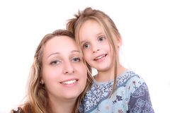Woman and her daughter Royalty Free Stock Photography