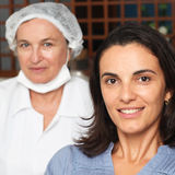 Woman with her dentist Royalty Free Stock Photo