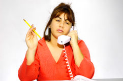 Woman At Her Desk 2 royalty free stock photography