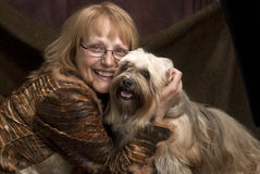 Woman and her dog Royalty Free Stock Image