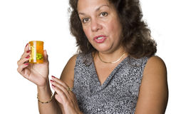 Woman and her drugs Royalty Free Stock Photo