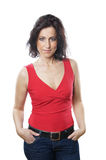 Woman in her forties. Posing Royalty Free Stock Image