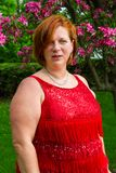 Pretty overweight woman Royalty Free Stock Image