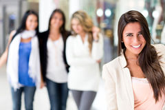 Woman with her friends Stock Photo