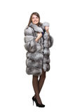 A woman in her fur coat Stock Image
