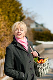 Woman with her groceries Stock Image