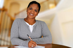 Woman In Her Home Stock Photo