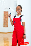 Woman in her home renovating diy Royalty Free Stock Images