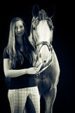 Woman With Her Horse Royalty Free Stock Photography