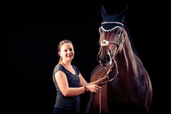 Woman With Her Horse Royalty Free Stock Images