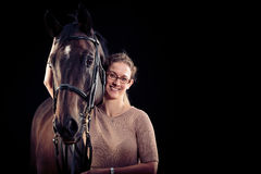 Woman With Her Horse Royalty Free Stock Image