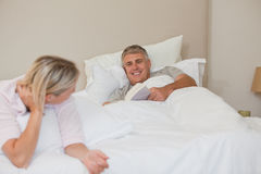 Woman and her husband Stock Photography