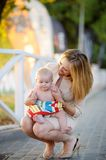 Woman with her little baby Royalty Free Stock Photo