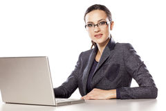 Woman in her office Stock Photography