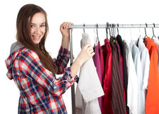 Woman in her own dressing room Royalty Free Stock Photography