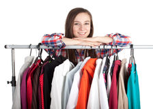 Woman in her own dressing room Stock Photo