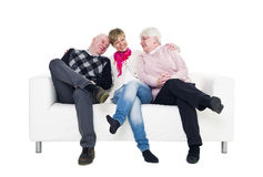 Woman with her parents Stock Photos