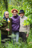 Woman and her parents Stock Image