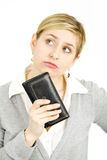 Woman with her purse Stock Photography