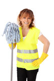 Woman in her 40s cleaning Stock Photography