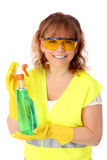 Woman in her 40s cleaning Stock Images