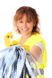 Woman in her 40s cleaning Stock Image