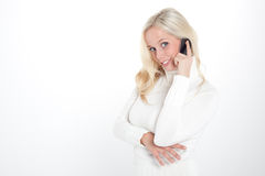 Woman with her smartphone Stock Photo