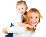 Woman and her son Royalty Free Stock Photos