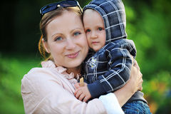 Woman with her son Stock Photography